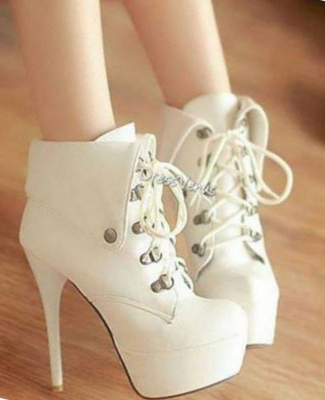 chunky platform bridal shoes
