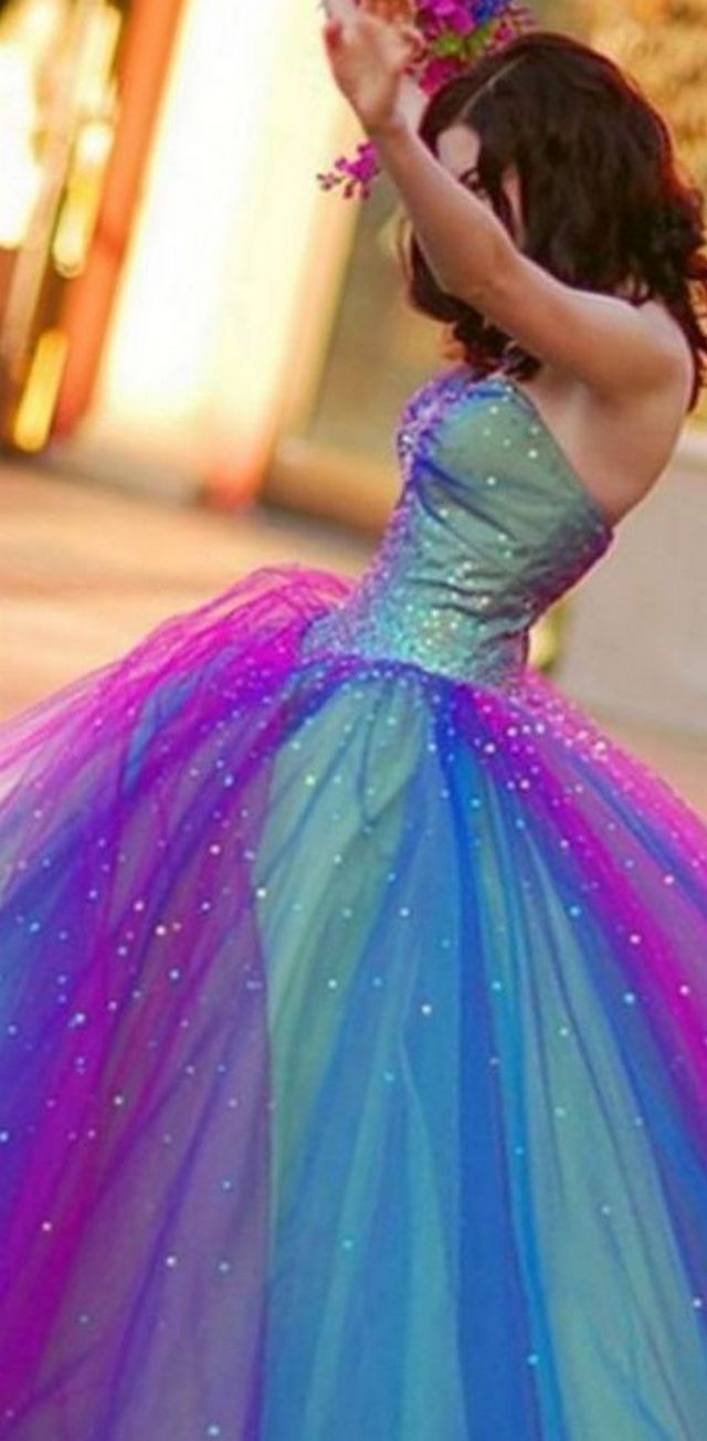 colored wedding dresses image