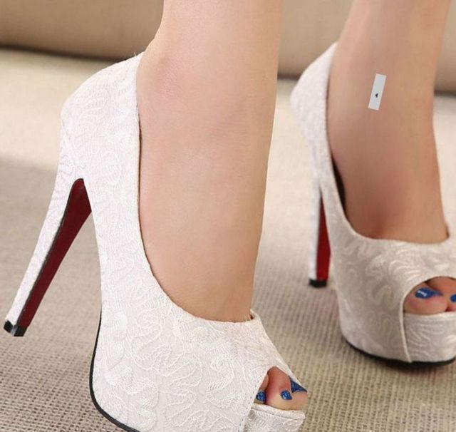 comfy platform bridal shoes photo