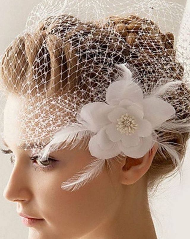 cute short wedding veils