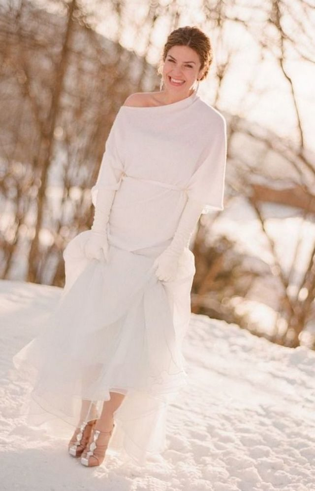 dresses to wear to a winter wedding photo