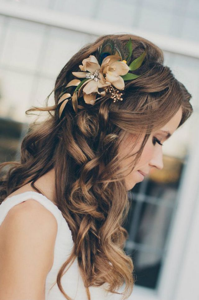 easy wedding hairdo for long hair picture