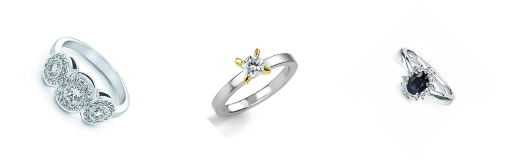 engagement ring diamond alternatives
