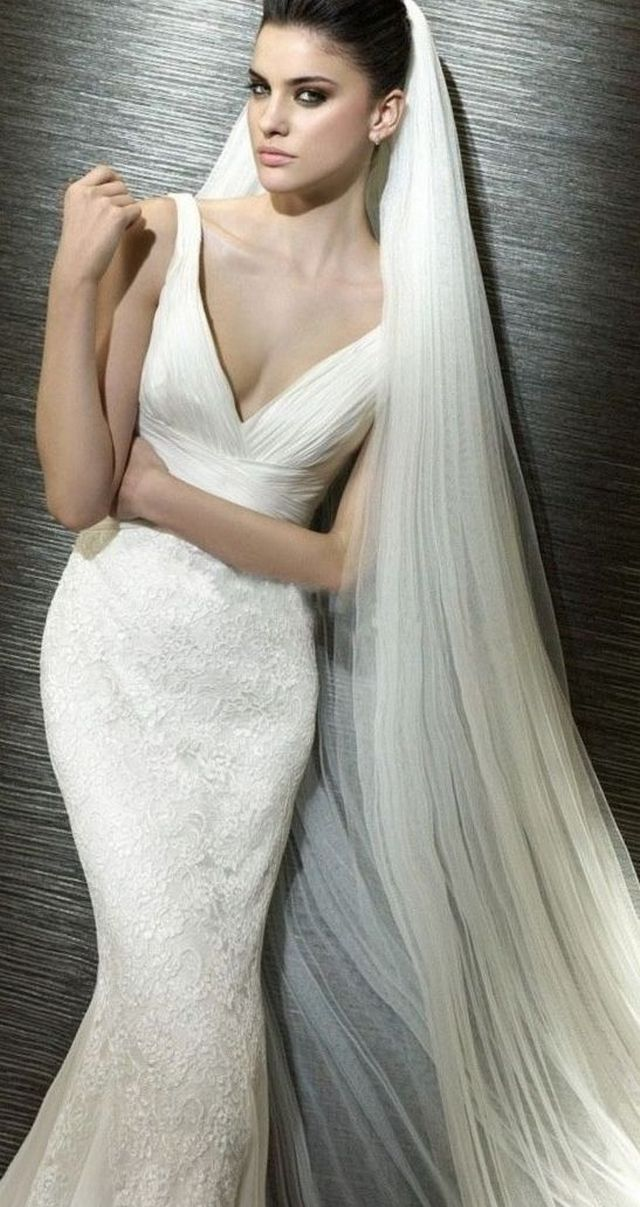 extra long wedding veils picture