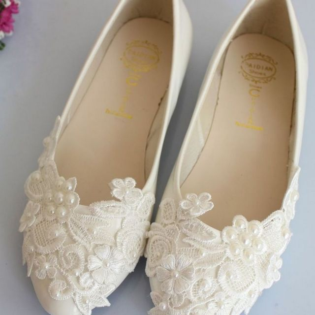 girls ivory ballet flats wedding