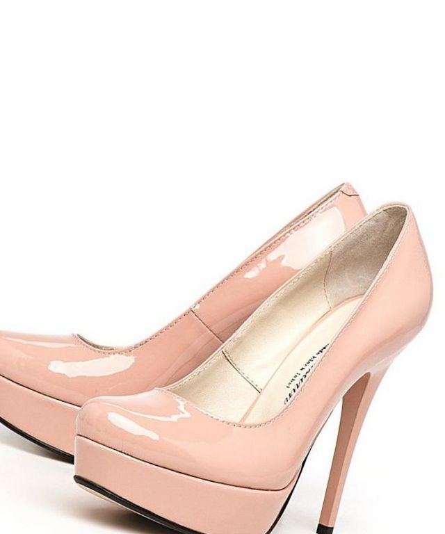 gold pink platform wedding shoes