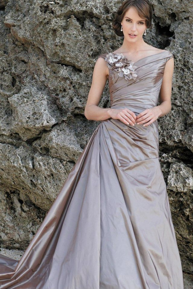 gray dress for wedding