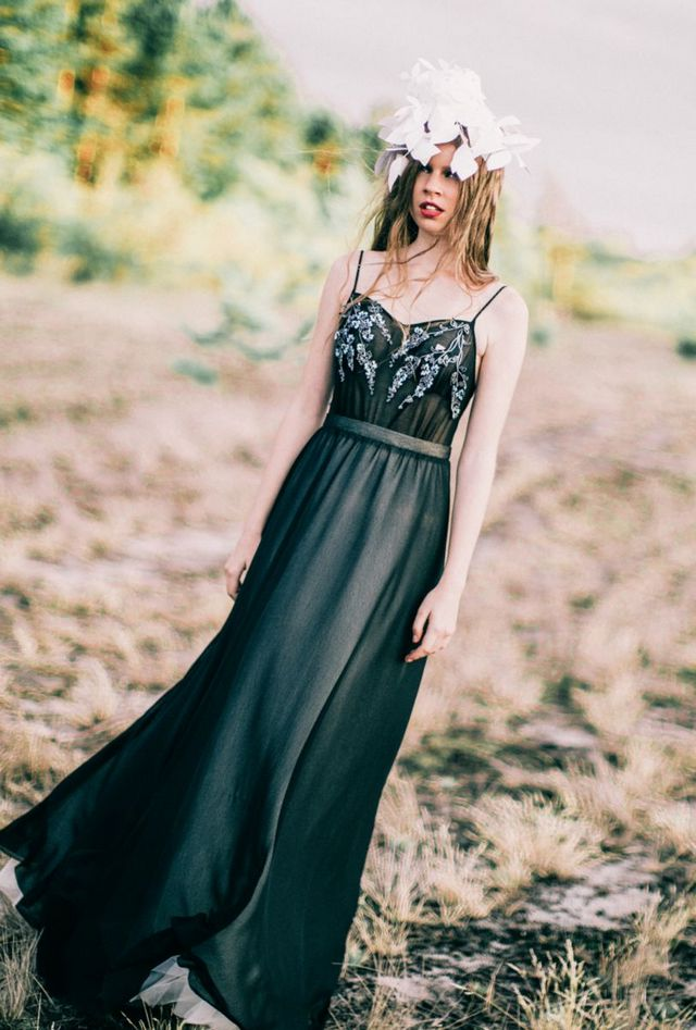 greek black wedding dresses