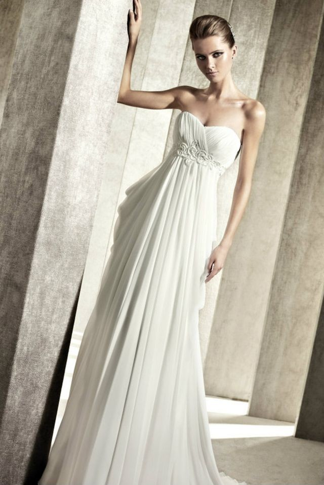 greek empire waist wedding dresses
