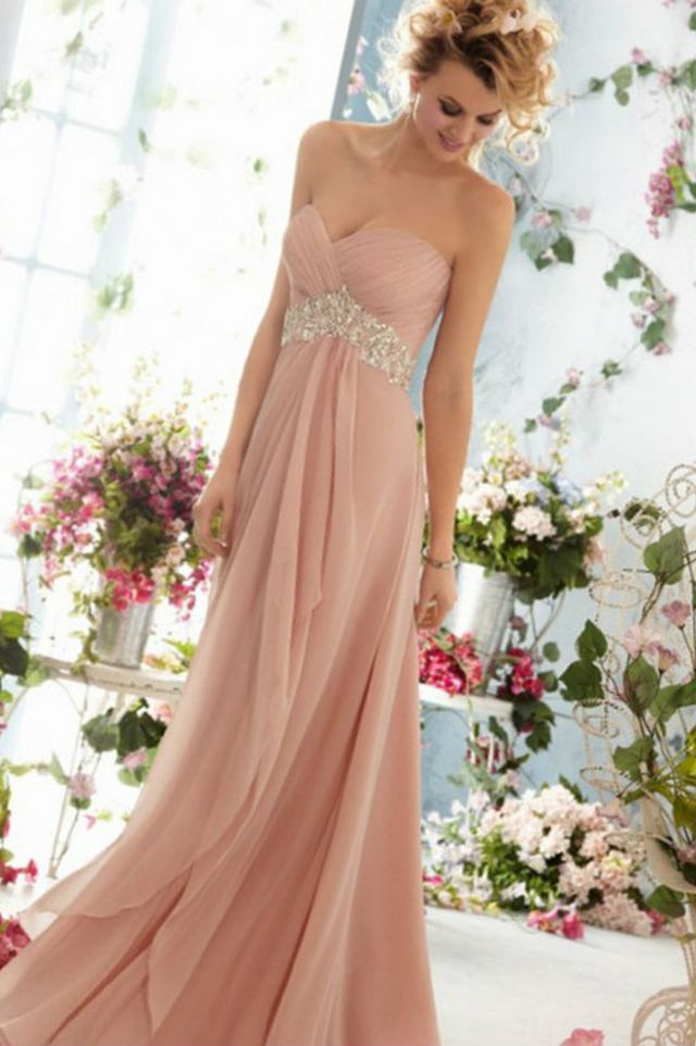 greek pink wedding dresses