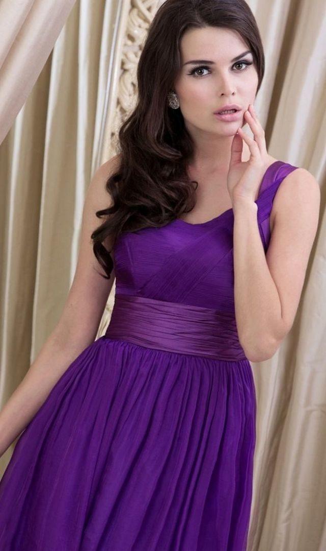 greek purple wedding dresses