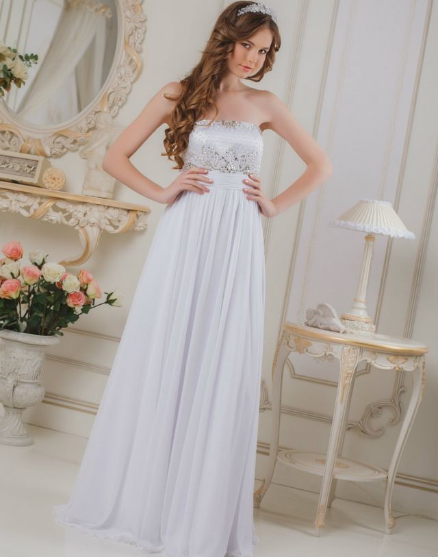 greek style beach wedding dresses