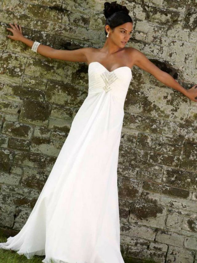 greek style wedding dress design