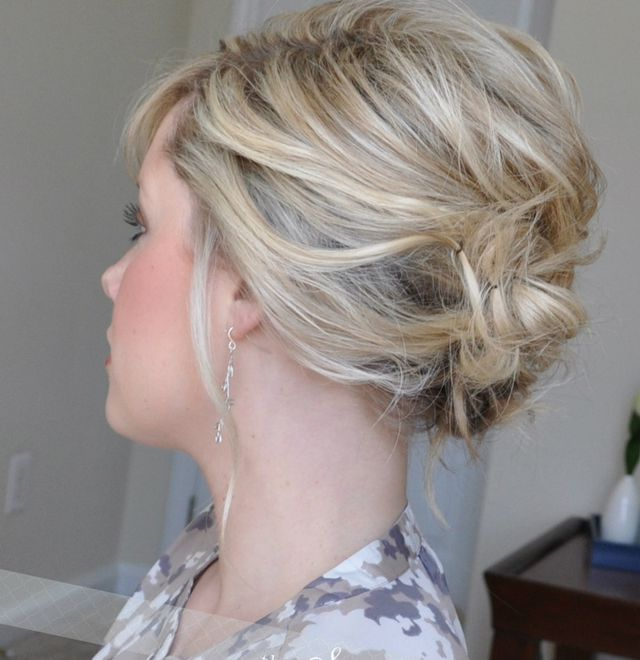 greek wedding hairstyle for short hair