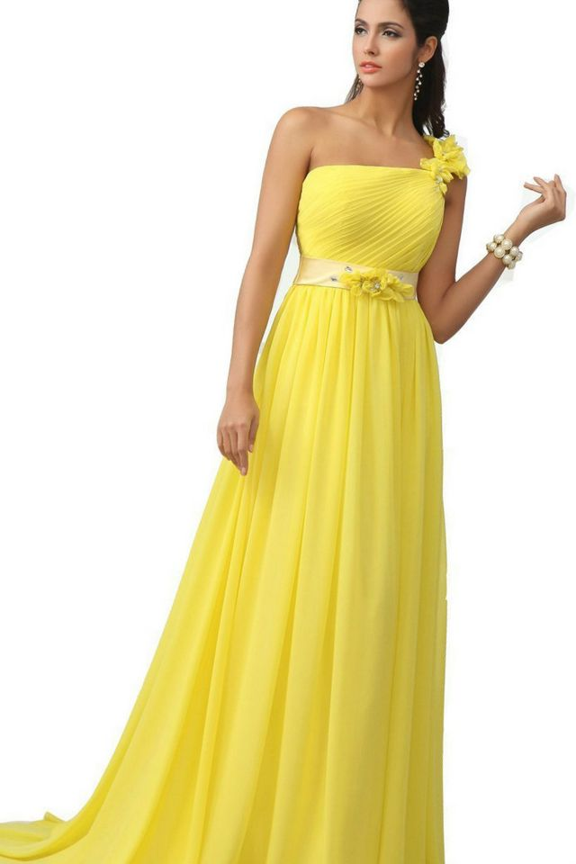 greek yellow bridal gown