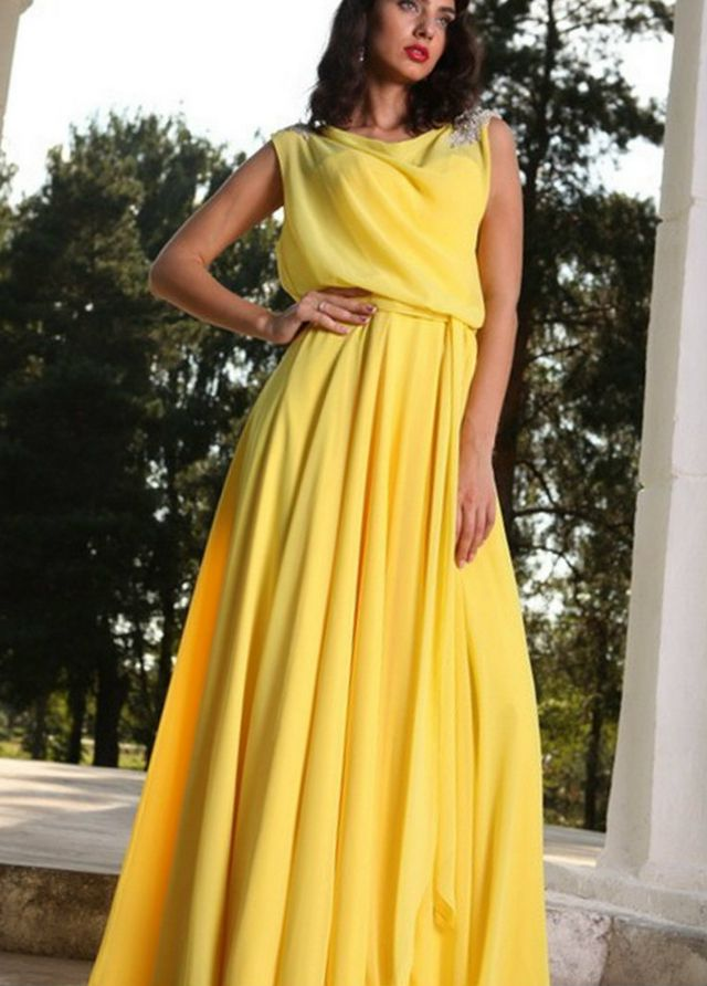 greek yellow dresses for wedding