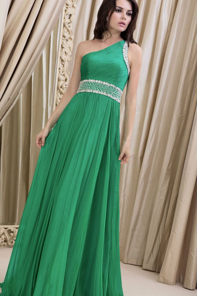 green wedding dress with sash