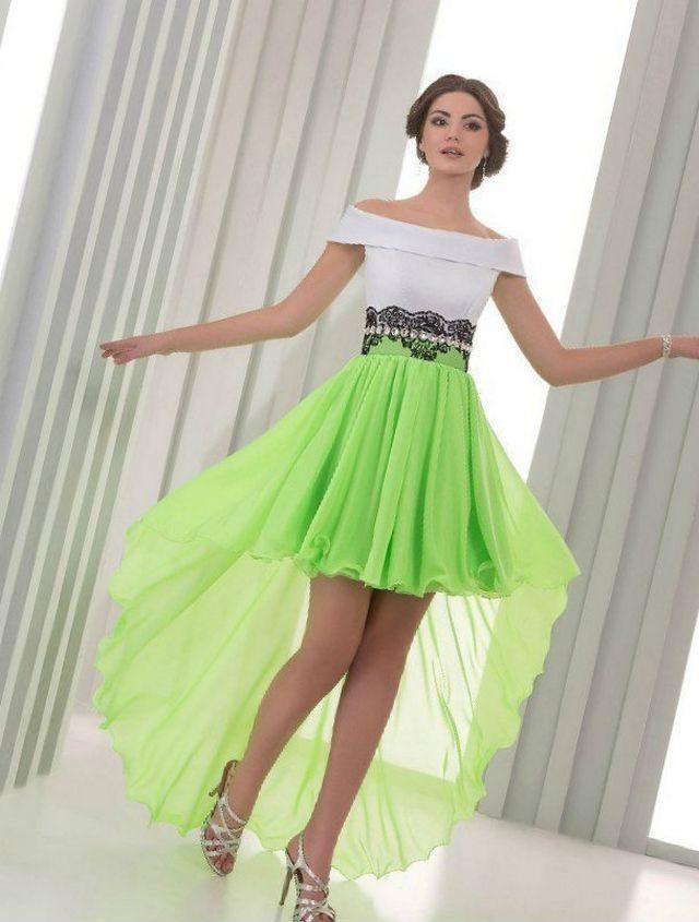 green white wedding dress