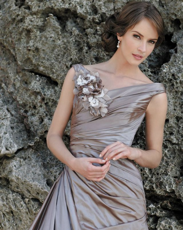 grey bridal dresses