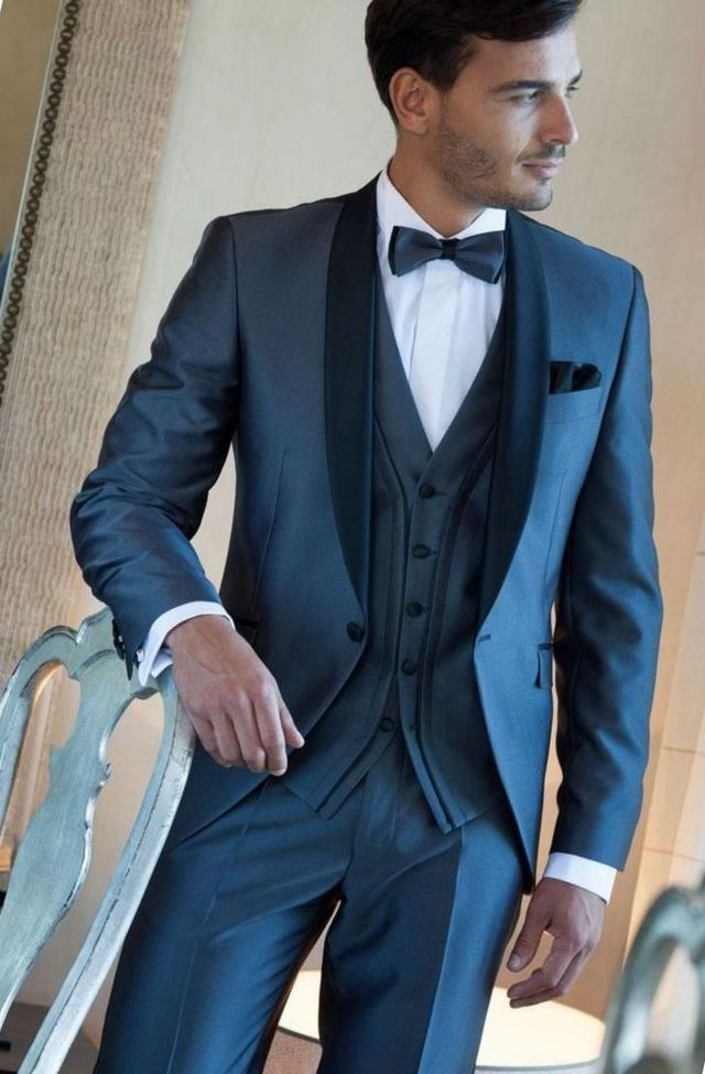 grey wedding suits for groom