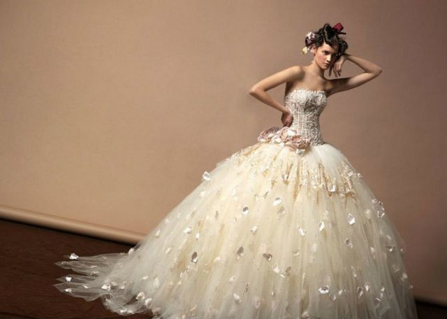 huge puffy wedding dresses photo