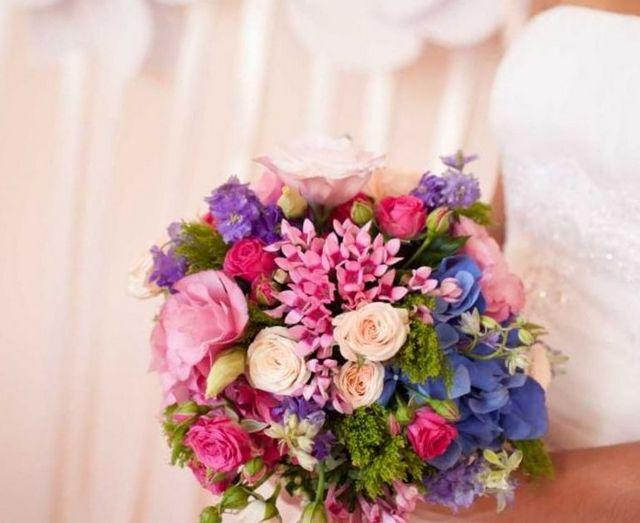 hydrangea peony bridal bouquet