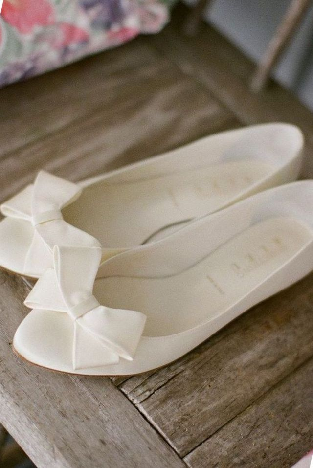ivory ballet flats for wedding