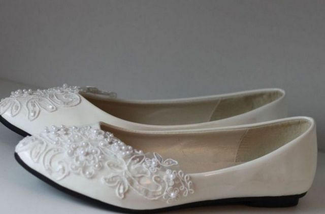 lace ballet flats wedding