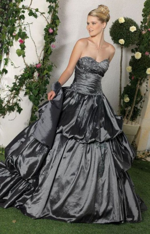 lace black bridal gown