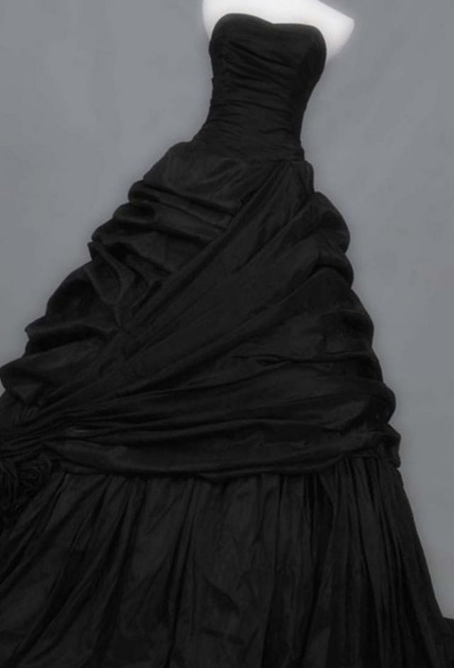 lace black wedding gown
