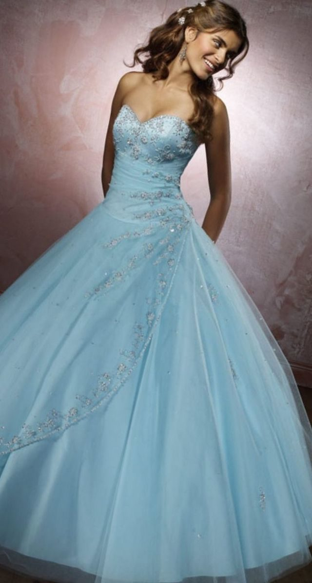 lace blue wedding gown