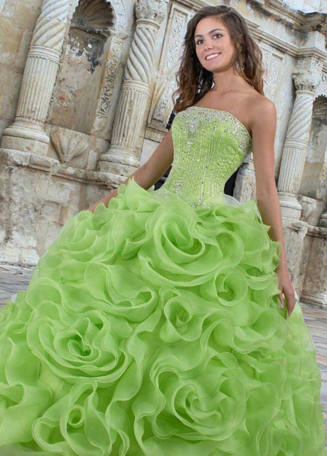 lace green wedding dress