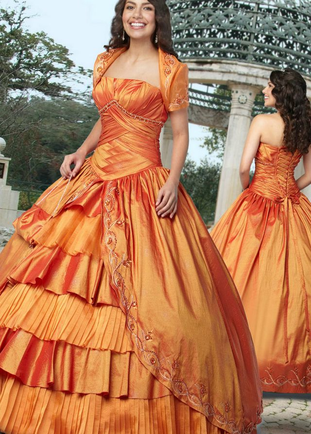 lace orange bridal gowns