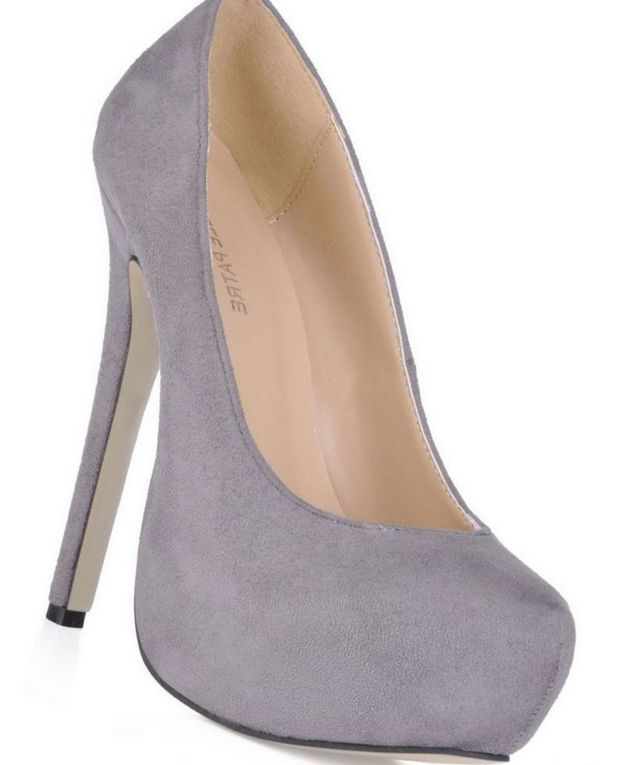 lace grey platform wedding shoes