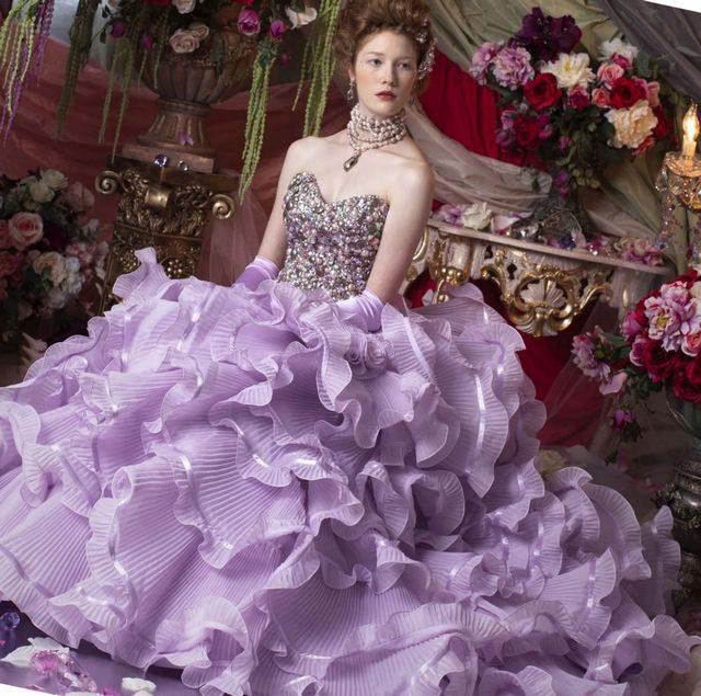 lace purple camo wedding dresses