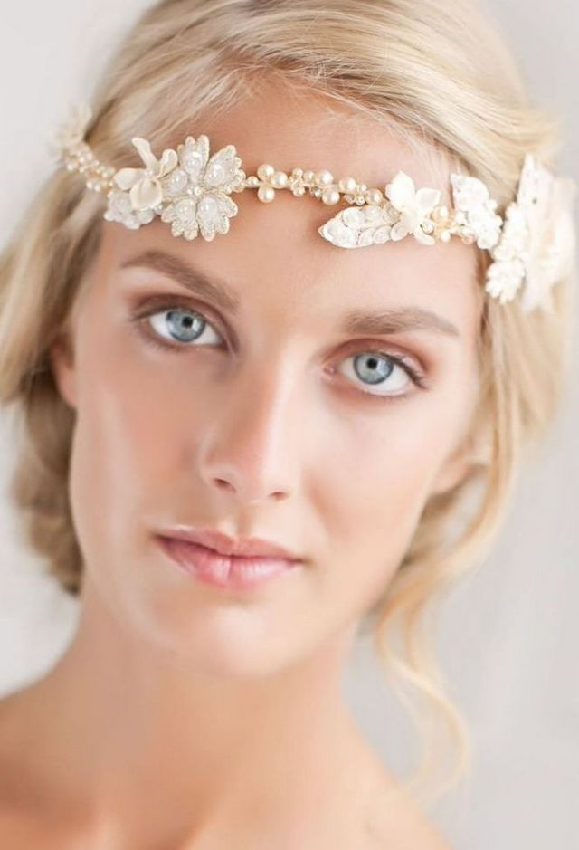 lace wedding headbands image