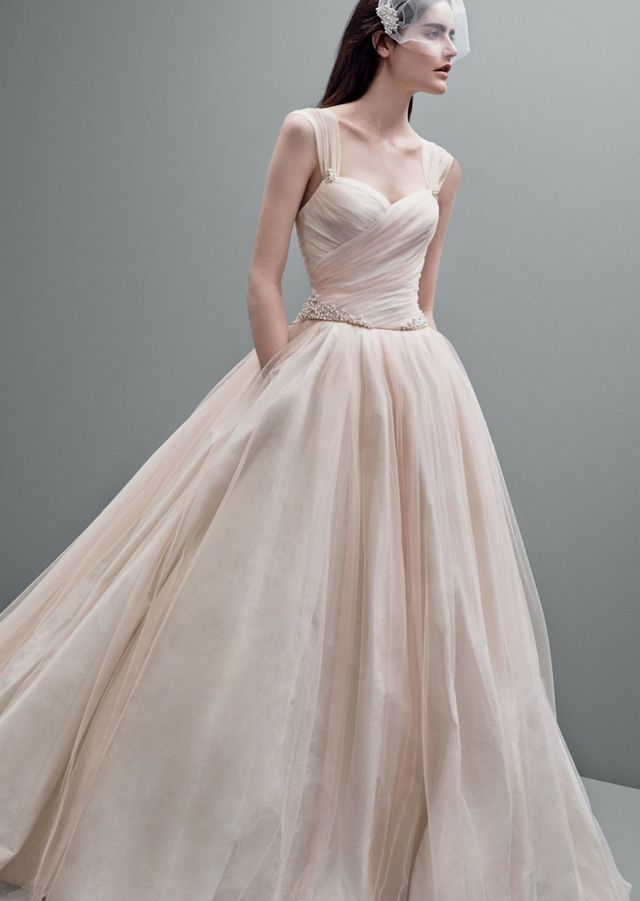 light pink wedding dress