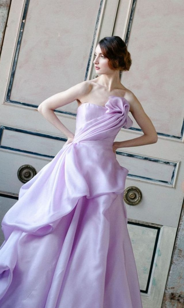 light purple wedding gowns
