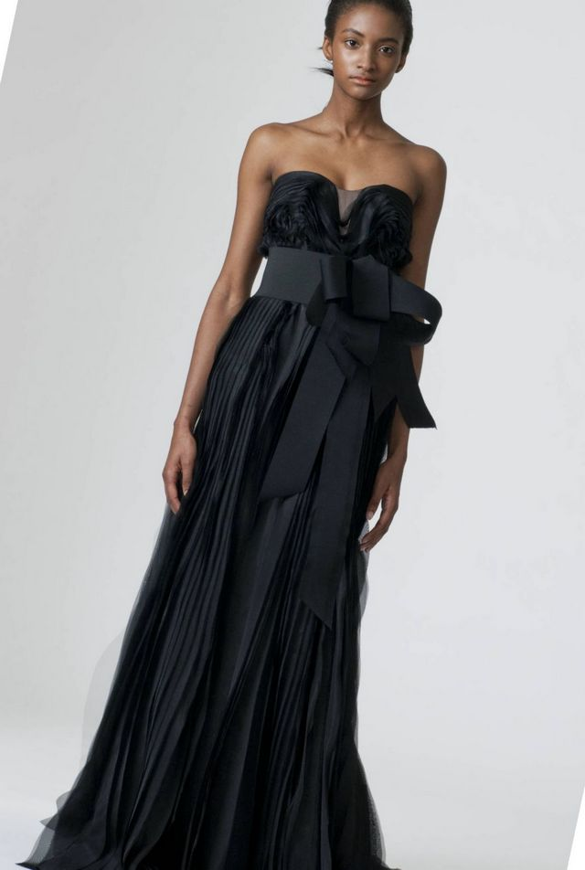 long black wedding dress
