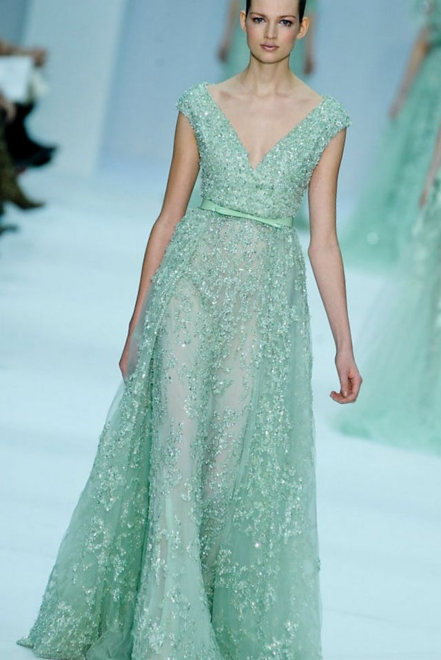 long turquoise wedding dress