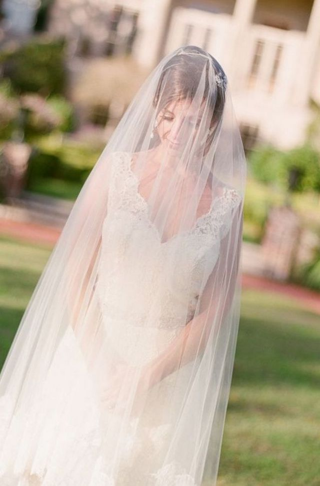 long wedding veil pattern