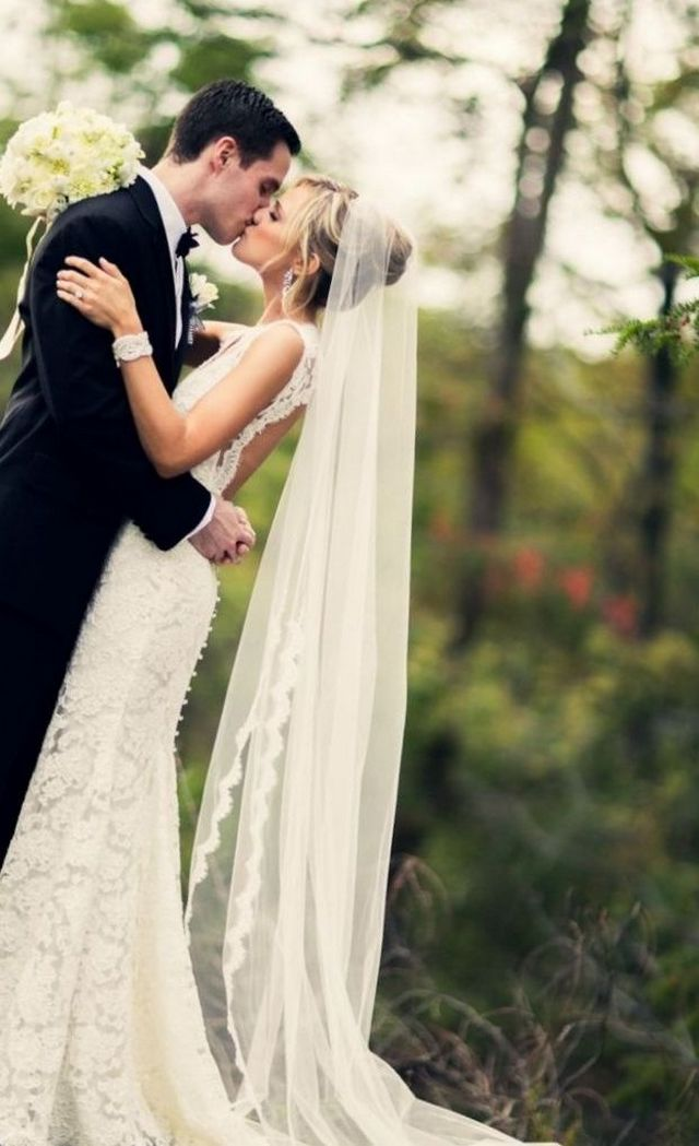 long wedding veil styles