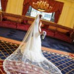 long wedding veils and hairstyles