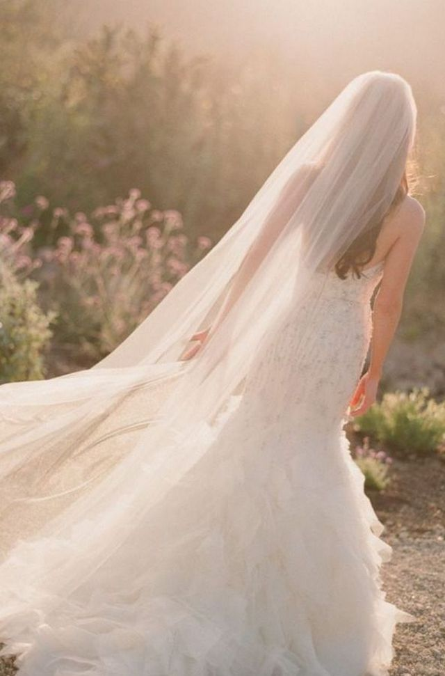 long wedding veils pinterest