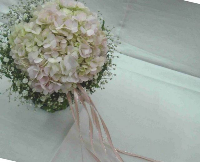make bridal bouquet hydrangeas