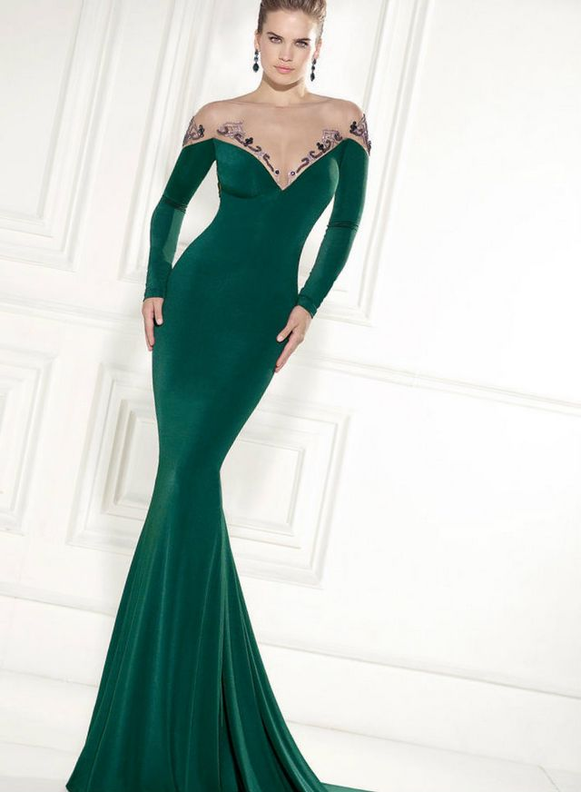 mermaid green wedding dress