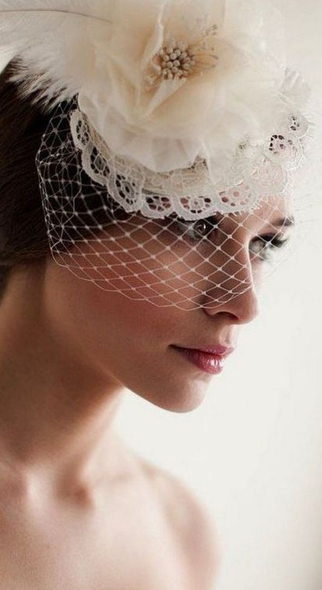 mini bridal veil diy