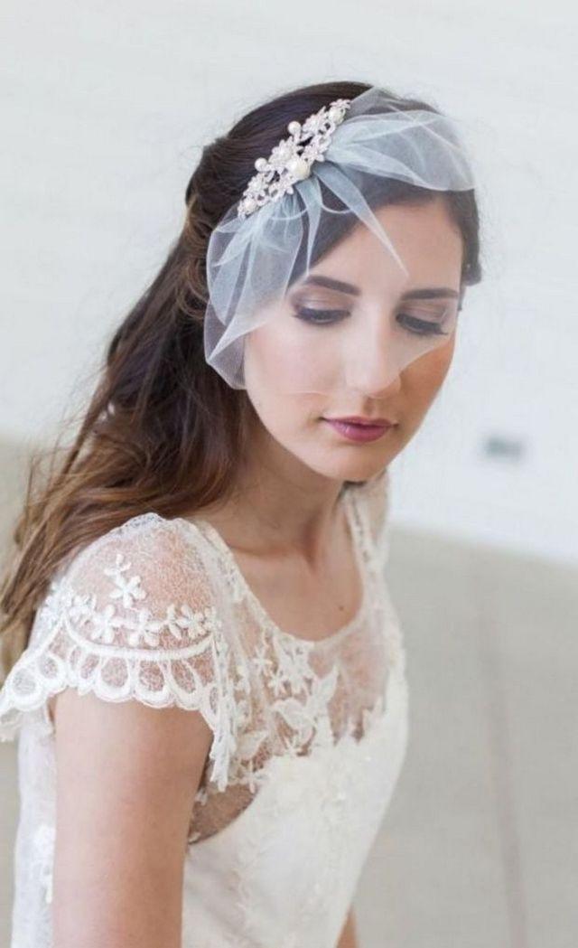 mini bridal veil ivory