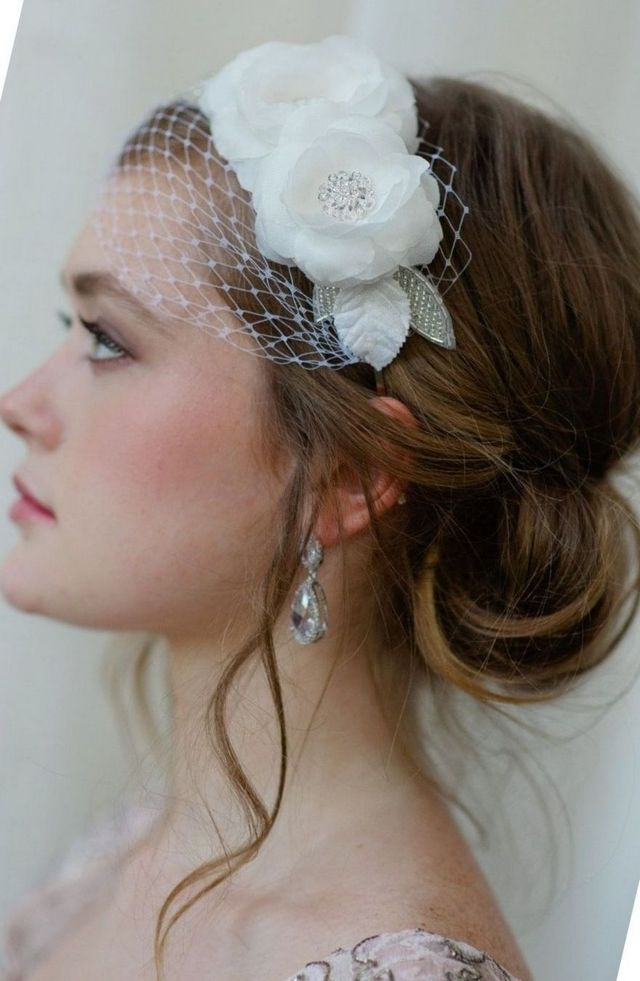 mini wedding veils pictures