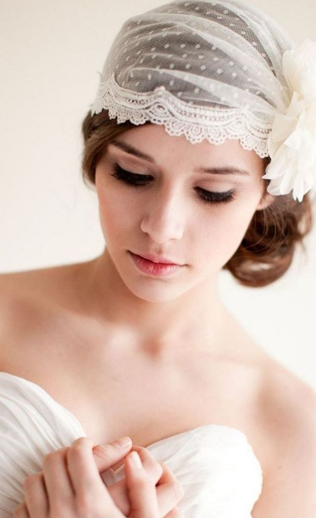 mini white wedding veils
